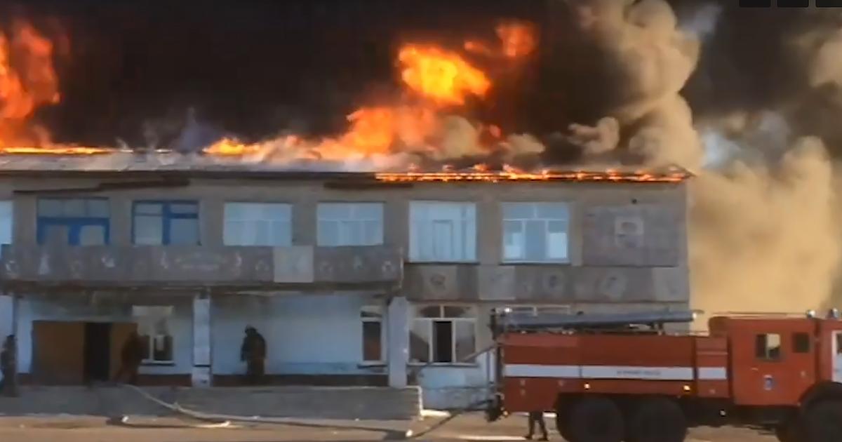 Сгорело здание сельской администрации в Новосибирской области