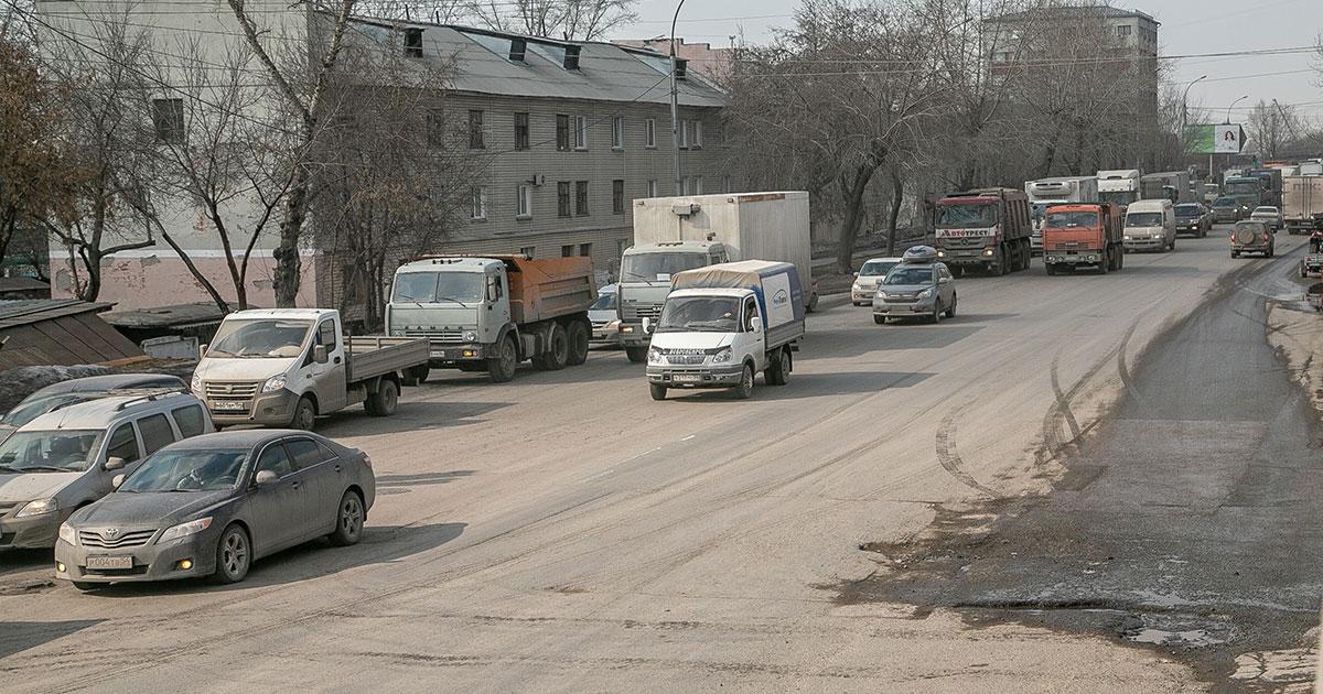 В Новосибирске временно сузят улицу Фабричную