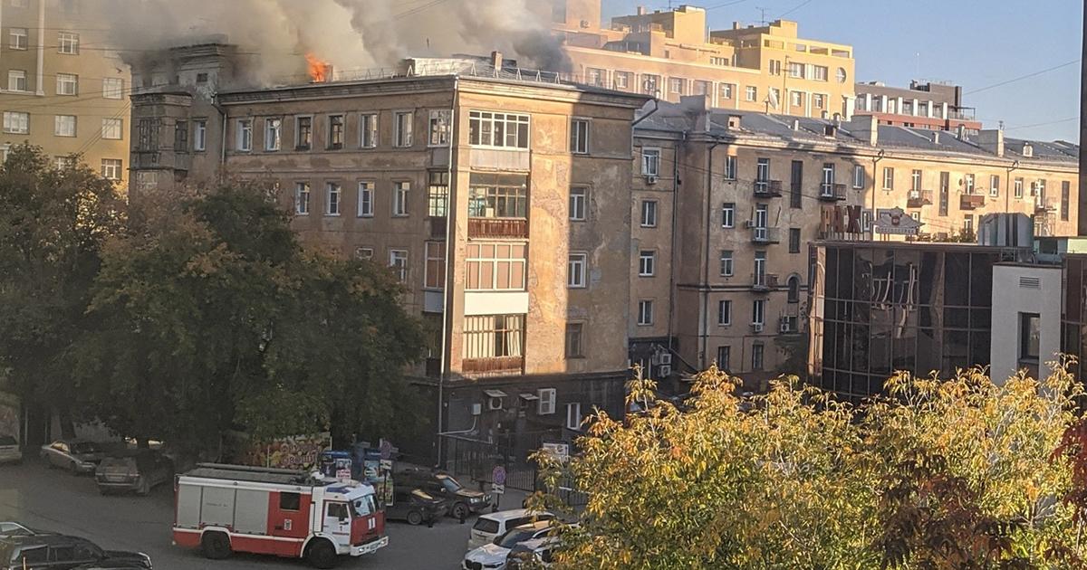 Серьёзный пожар произошёл в жилом доме в центре Новосибирска