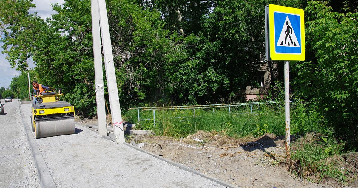 Ремонт дорог частного сектора и тротуаров завершается в Новосибирске