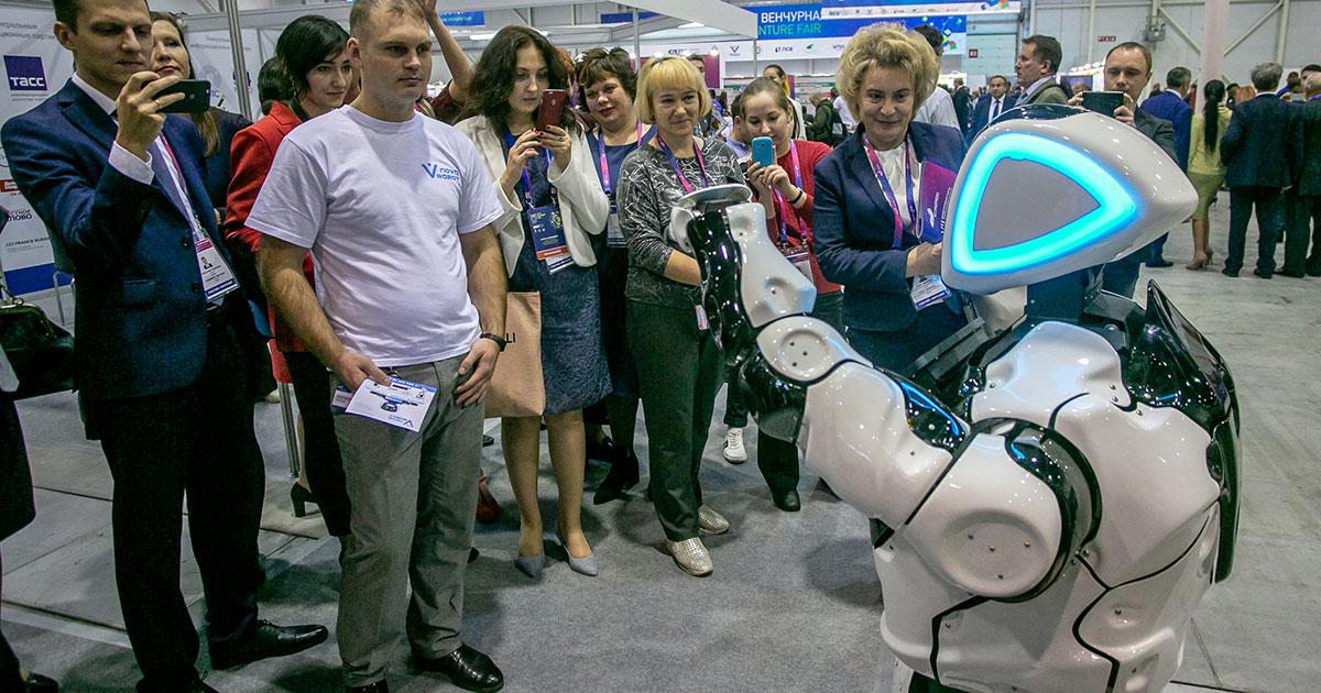 Новосибирский робот Николай выступил на Всероссийском форуме в Сочи