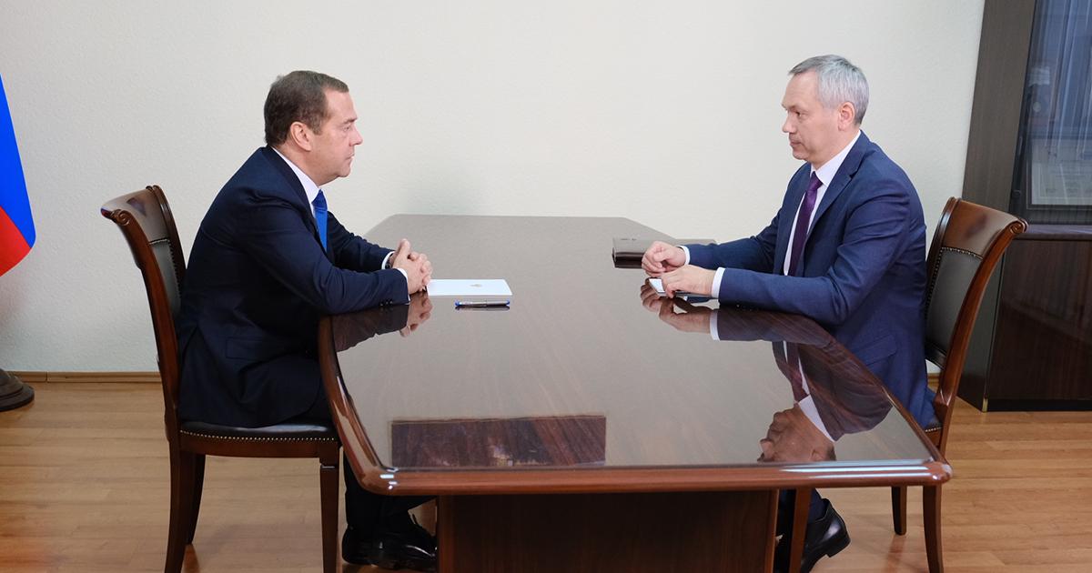 О чём говорили Дмитрий Медведев и Андрей Травников во время личной встречи