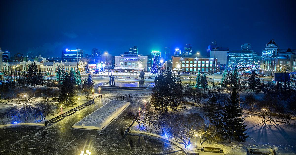 В Новосибирске разрешат парковаться на площади Ленина по ночам