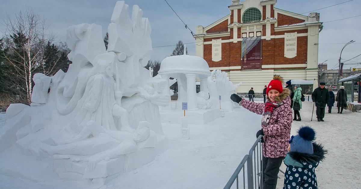 XX Сибирский фестиваль снежной скульптуры в Новосибирске начнётся 4 января