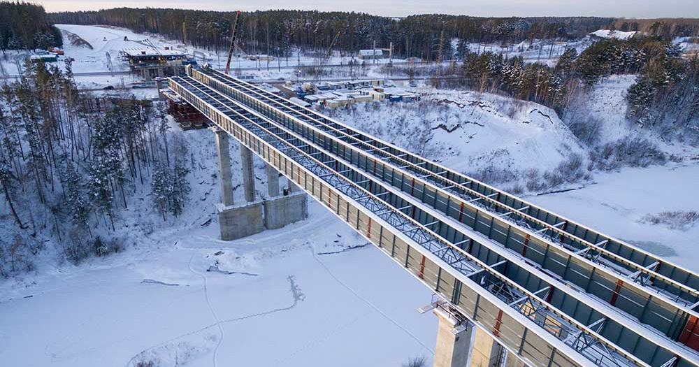 Закончена надвижка пролётов моста на Восточном обходе Новосибирска