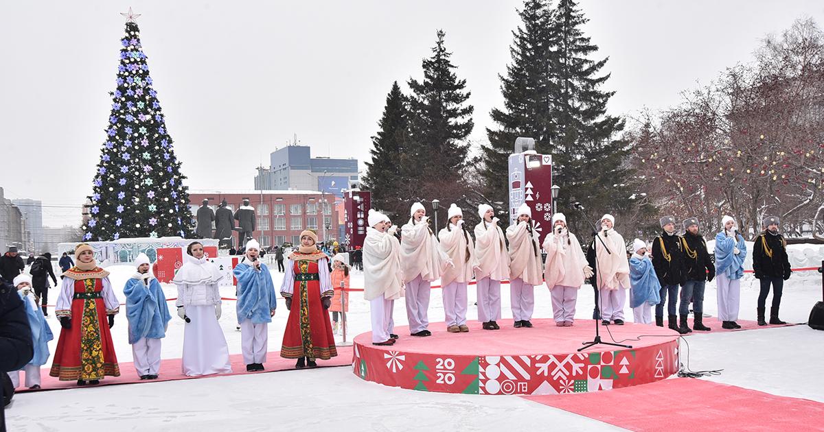 Около тысячи горожан посетили рождественскую ёлку в Новосибирске