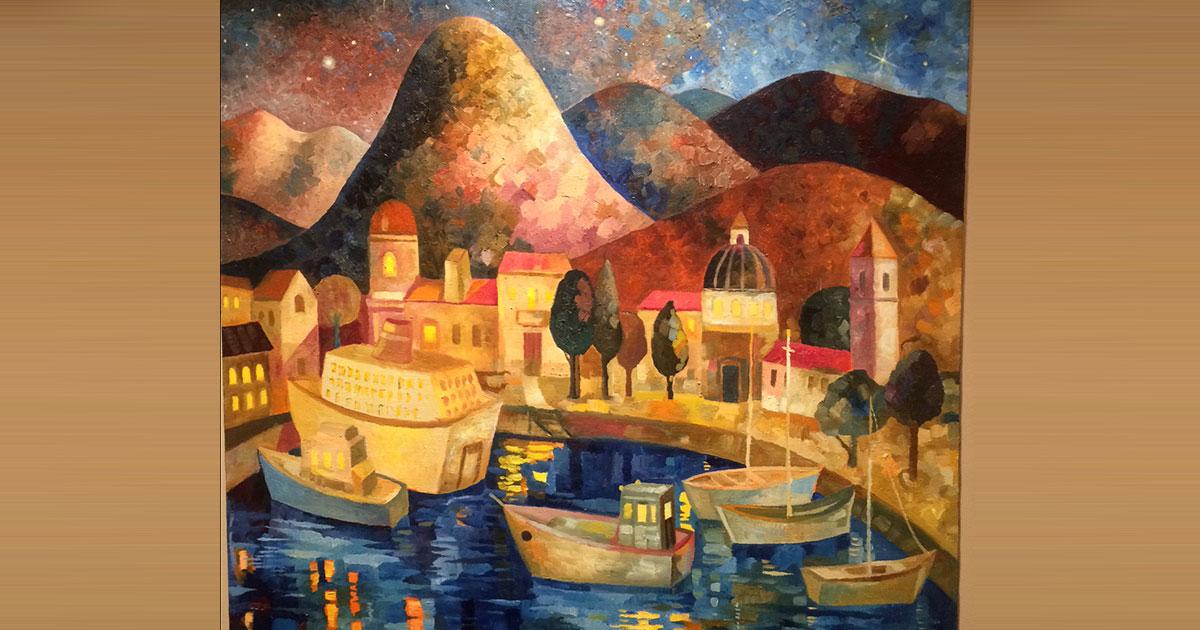 До 19 января работает выставка «Глобальное потепление» художника Олега Шелудякова в ЦК19