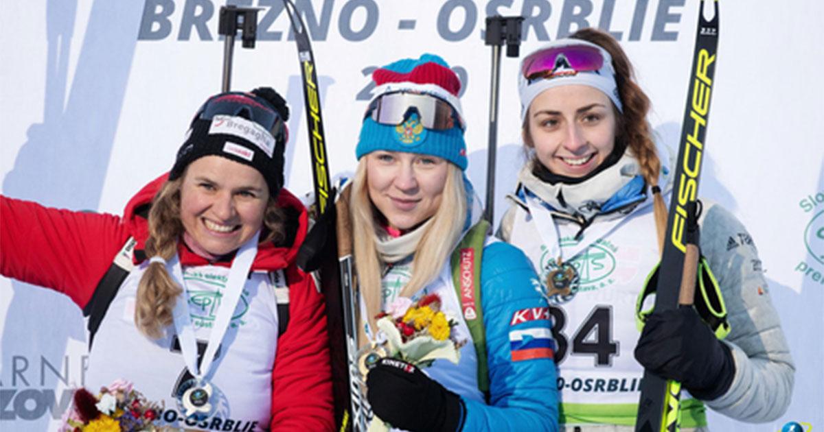 Новосибирская биатлонистка Евгения Павлова триумфально выступила на Кубке IBU в Словакии