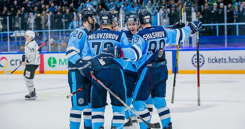 Хоккейная «Сибирь» одержала шестую победу подряд