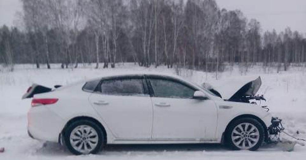 Под Новосибирском женщина разбилась в ДТП