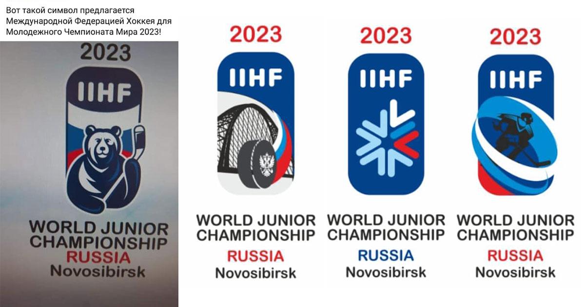 Медведь с клюшкой предложен символом молодёжного чемпионата мира по хоккею в Новосибирске
