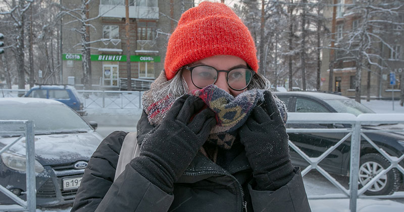 Резкое похолодание и морозы идут в Новосибирск