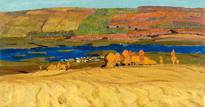 Картина «Свидание» стала центральной на выставке к 90-летию художника Геннадия Александрова