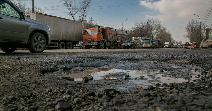 Губернатор раскритиковал ямочный ремонт новосибирских дорог