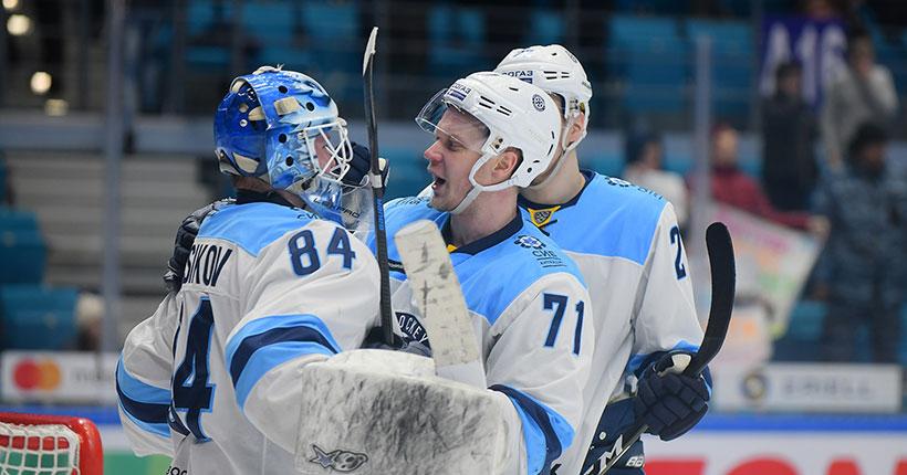 Хоккейная «Сибирь» вырвала победу у «Барыса»