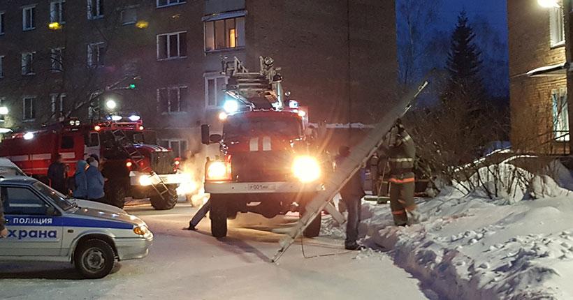 В Новосибирске пожарные из горящего дома спасли шестерых человек