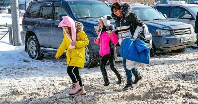 Снегопады и потепление идут в Новосибирск