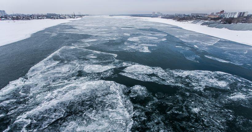 Спасатели предупредили об опасности выхода на обской лёд