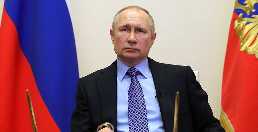 Владимир Путин объявил апрель нерабочим месяцем с сохранением заработной платы