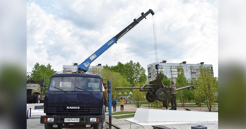 «Арсенал» сквера в «Родниках» пополнился дивизионной пушкой ЗИС-3