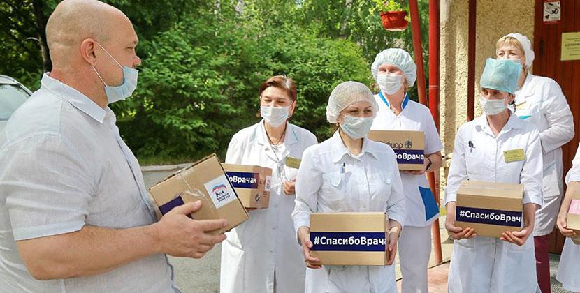 В Новосибирской области медикам дарят кофе, шоколад и сушки