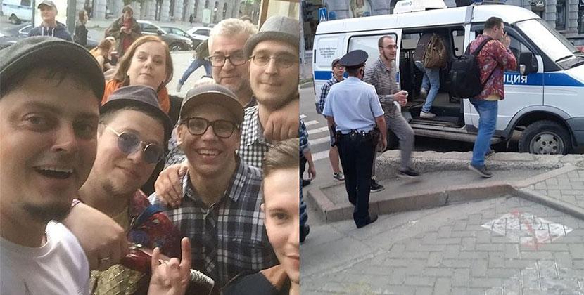 Новосибирскую группу «Рви меха» задержала полиция за нелегальный концерт в центре города