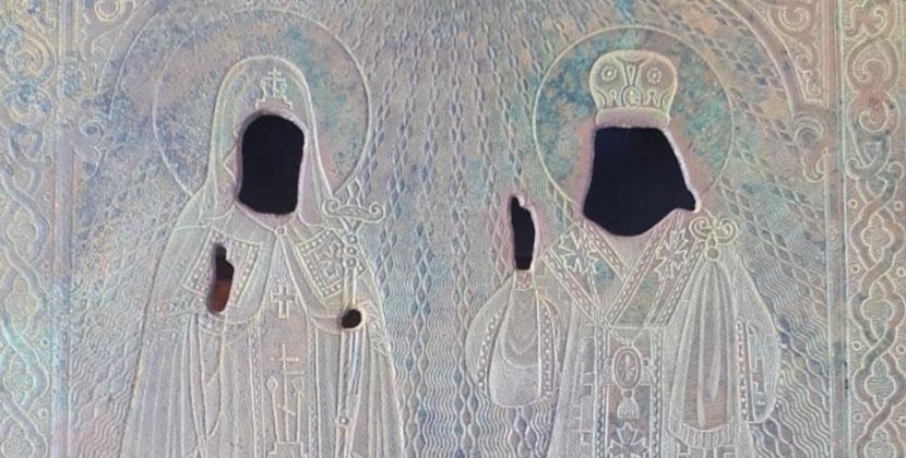 Оклад старинной иконы нашли на дне обмелевшего весной Обского водохранилища в Новосибирской области