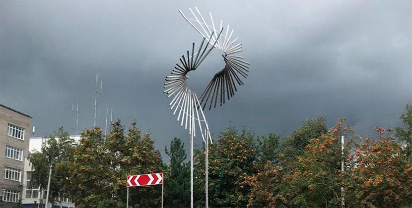 Новосибирцев пригласили обсудить арт-объект «Танец птиц».