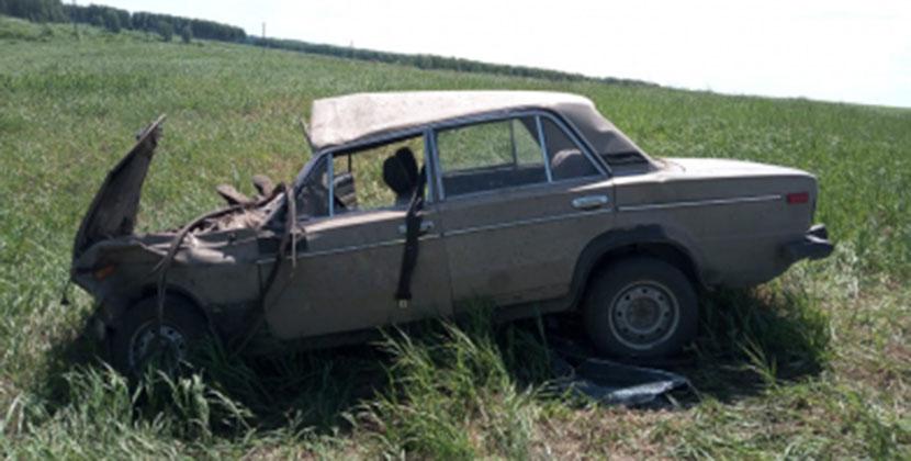 Под Новосибирском перевернулись «Жигули» с пятью детьми
