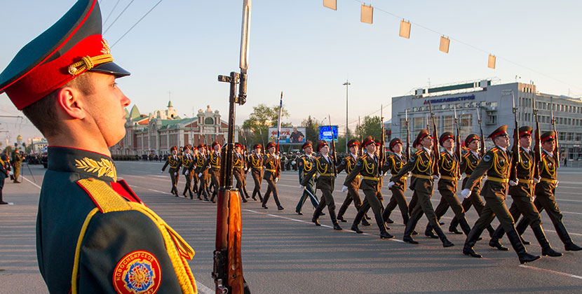 На время репетиции парада Победы в Новосибирске перекроют несколько улиц