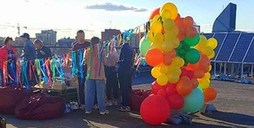 В Новосибирске на крыше офисного здания в период самоизоляции прошла закрытая вечеринка