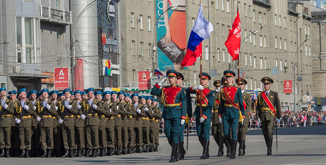 На время проведения репетиции парада Победы в Новосибирске изменятся маршруты движения транспорта