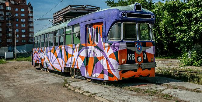 Два стильных арт-трамвая выехали сегодня, 29 июня, на свои маршруты