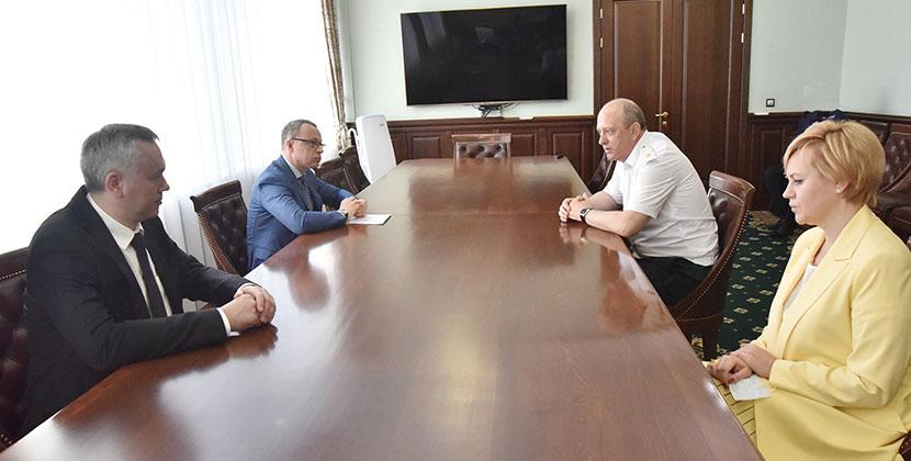 Губернатор Новосибирской области встретился с новым начальником Сибирского таможенного управления