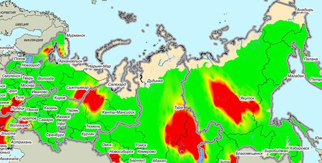 Новосибирская область попала на карту прогнозов лесных пожаров в России
