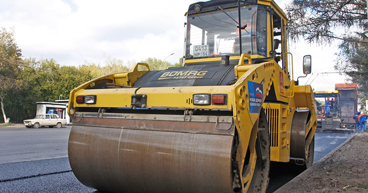 Капитальный ремонт развязки на пересечении Бердского шоссе и проспекта Строителей завершат в сентябре