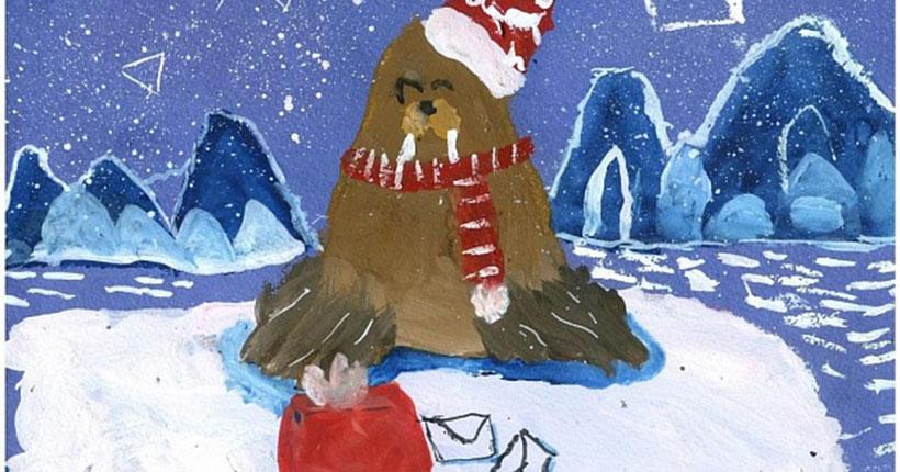 Новосибирский детсадовец нарисовал моржа и стал победителем Всероссийского конкурса рисунка