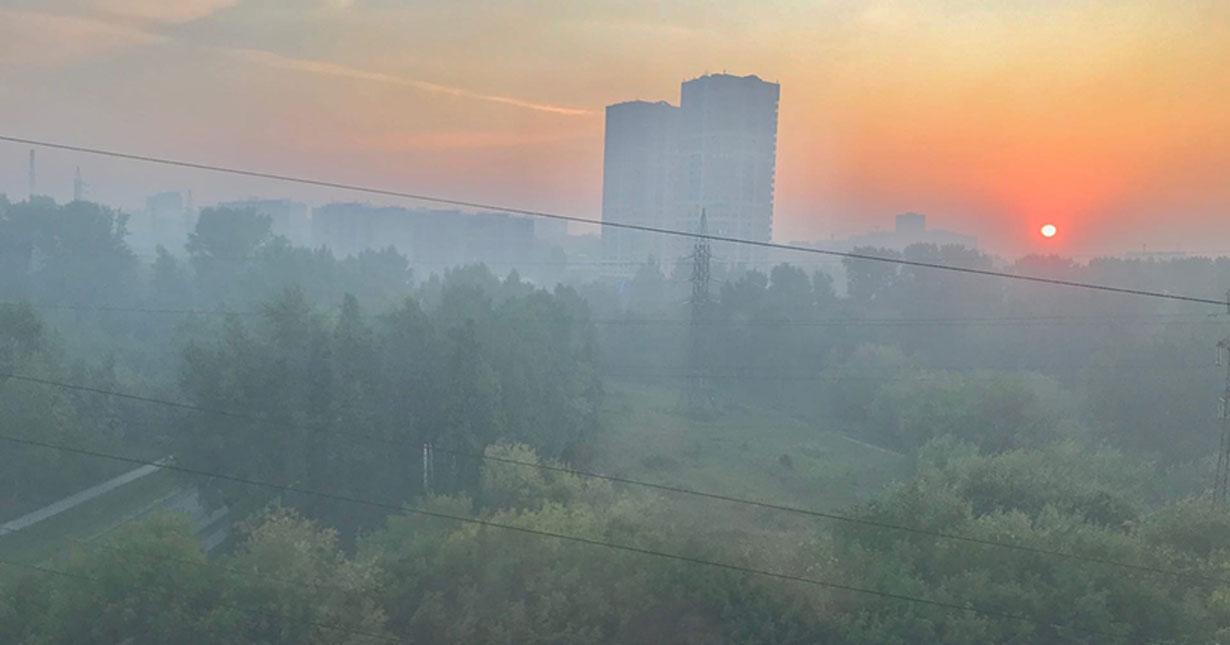 Из-за горящей свалки в Новосибирске ухудшилось качество воздуха