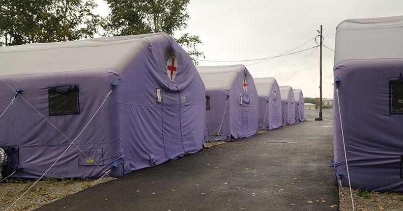 В Новосибирской области сворачивают палатки мобильного госпиталя