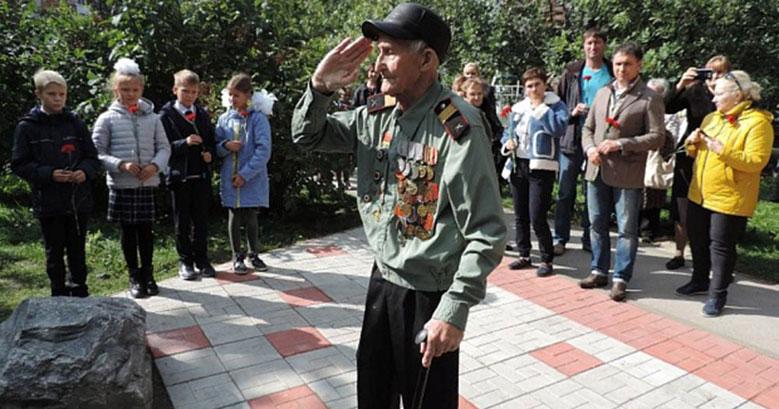 В Новосибирске торжественно открыли мемориал в память о Великой Отечественной войне
