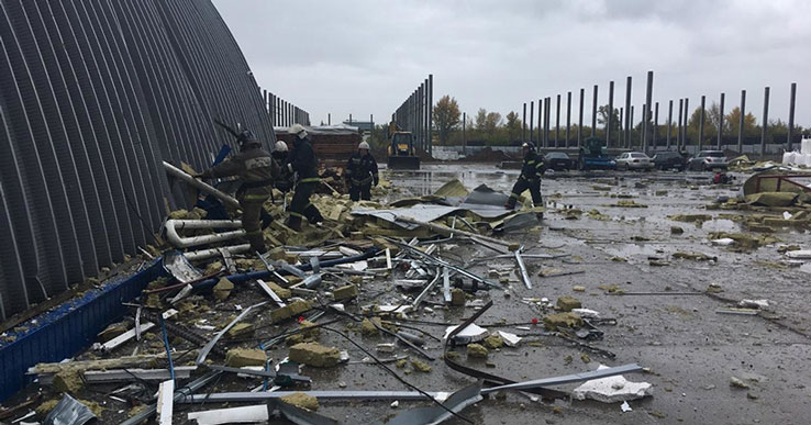 В Первомайском районе Новосибирска обрушилась стена котельной