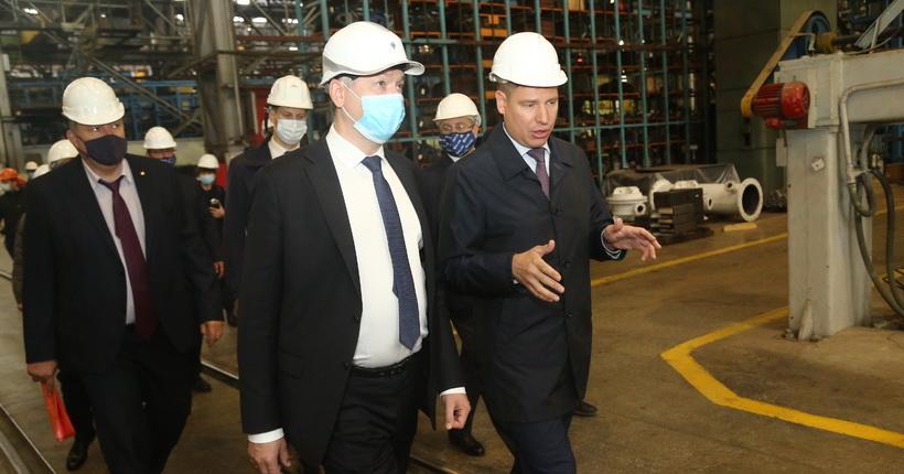 Губернатор оценил ход реализации инвестпрограмм на новосибирском заводе