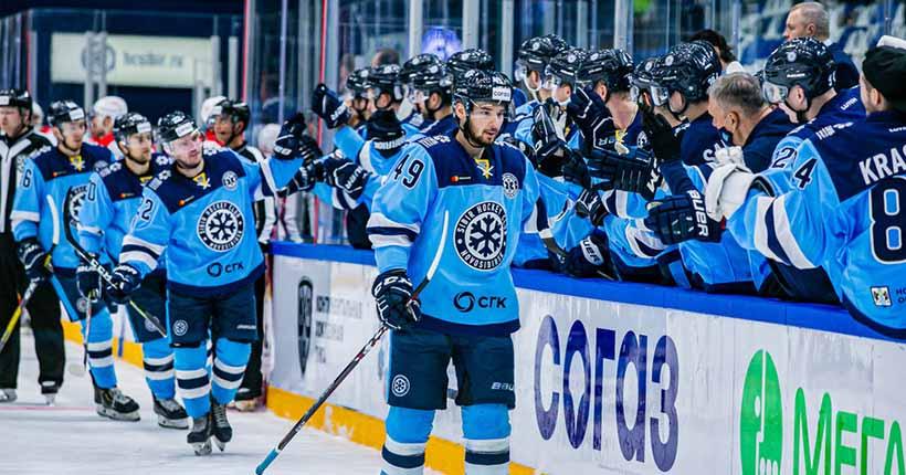 Хоккейная «Сибирь» обыграла СКА в Санкт-Петербурге