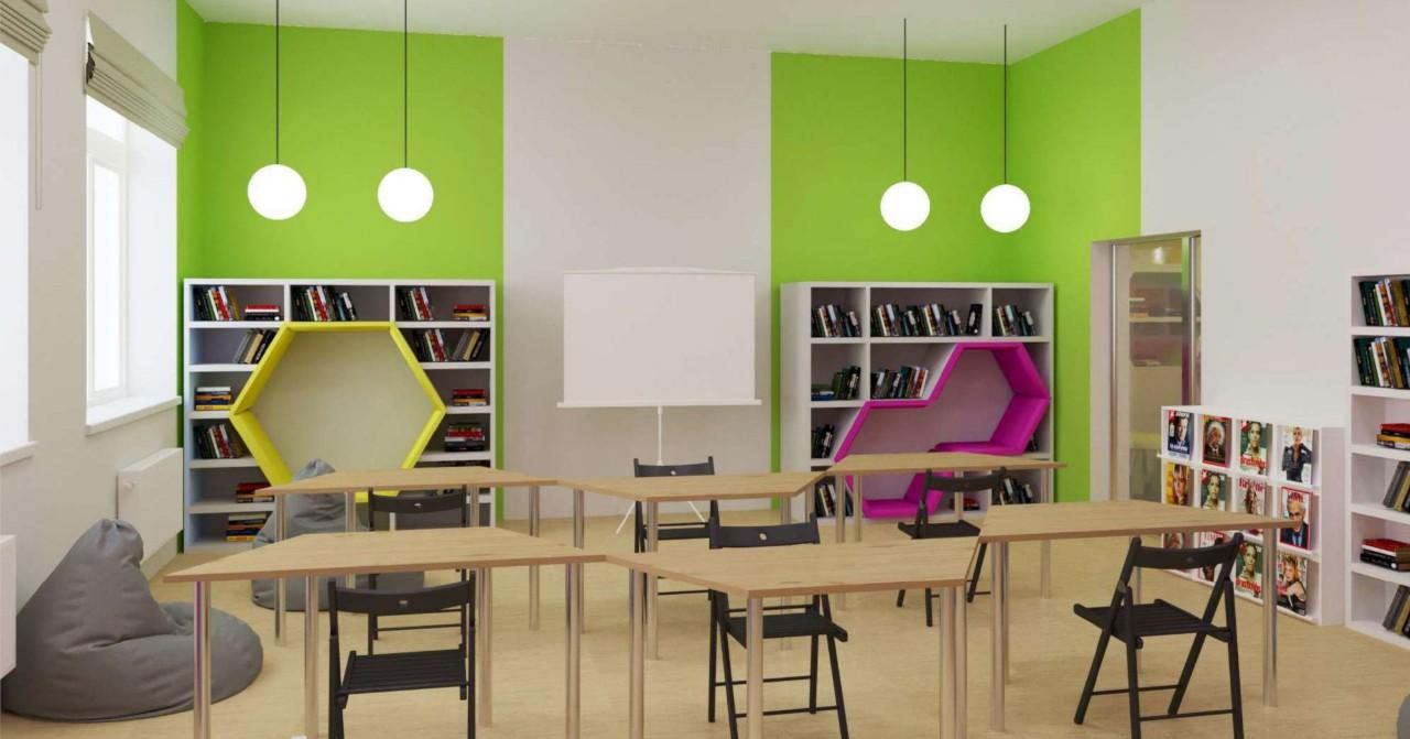Подиум-сцена и места для бабушек — обновлённая детская библиотека откроется в Кочках 30 сентября