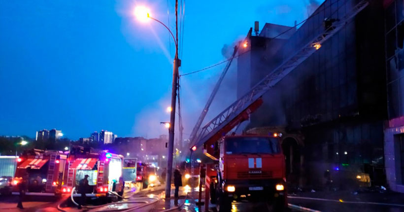 Прокуратура Центрального района Новосибирска организовала проверку в связи с крупным пожаром
