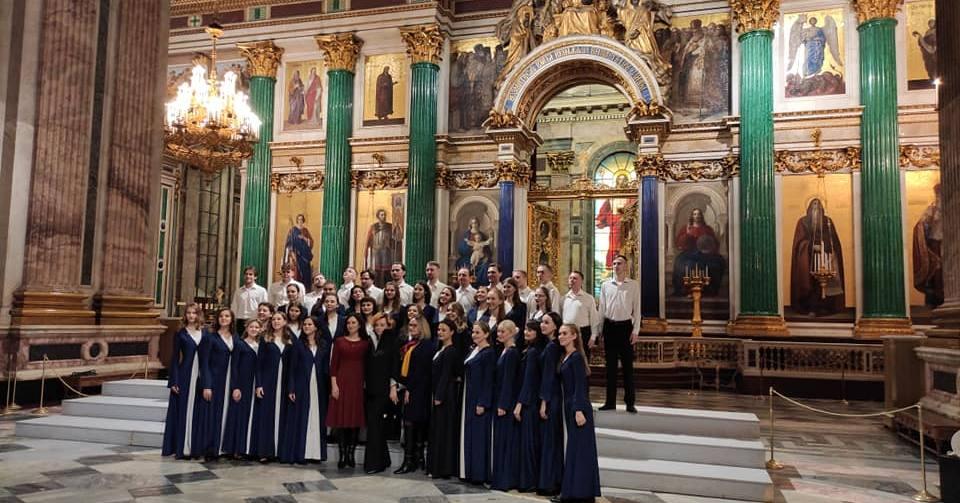 В Исаакиевском соборе хор студентов Новосибирской консерватории исполнил сочинения сибирских композиторов