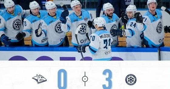 Новосибирская хоккейная «Сибирь» уверенно победила магнитогорский «Металлург»