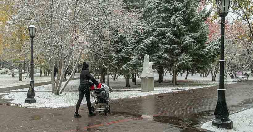 Похолодание, сильный ветер и снегопады ожидаются на неделе в Новосибирске