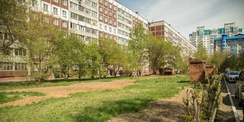 Жители улицы Железнодорожной в Новосибирске протестуют против точечной застройки