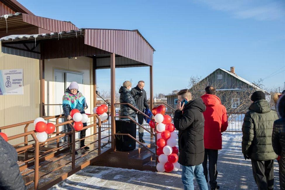 Депутаты заксобрания Андрей Панфёров и Виктор Кушнир открыли два новых ФАПа в Купинском районе
